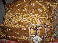 WATERFORD ALHAMBRA GOLD EMBROIDERED JACQUARD (PAIR) EURO PILLOW SHAMS 26 X 26