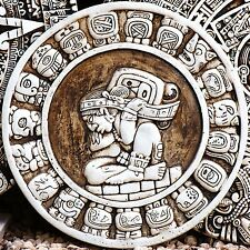 "GENUINE 100% FINE EMBROIDERED 2012 MAYAN CALENDER 4"" MAYAN ZODIAC CIRCLE"