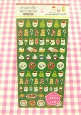 GAIA / Christmas Foil Sticker Sheet / Made in Japan Santa Claus Snowman Cake