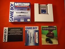 Battleship (Nintendo Game Boy, 1992) COMPLETE w/ Box manual game WORKS!