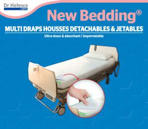 1-2-3 Set a 5x Spannbettlaken für Inkontinenz Hygienebettlaken Wechsellaken Care