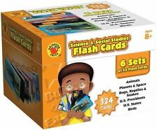Science & Social Studies Flash Cards - 324 CARDS IN SET