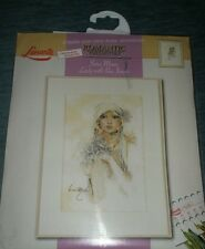 Lanarte cross stitch kit  34782 Lady With Lilac OOP.Rare. never used