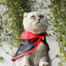 Small Dog & Cat Vampire Costume Halloween Holiday Outfits with Cloak Pet Clothes