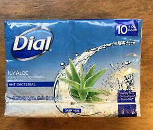 Dial Antibacterial Deodorant Soap -Icy Aloe - 10 Pack