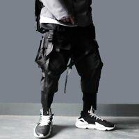 Pantalon jogging survêtement Streetwear tactique noir mode Urban Hip Hop