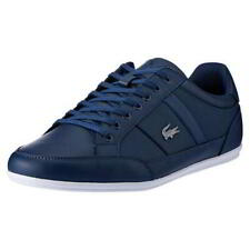 Lacoste Chaymon Mens Blue White Leather Trainers Shoes Size 7-12
