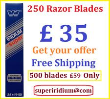 Wizamet Super Iridium Double Edge Safety Razor Blades By Gillette 250 HQ Blades
