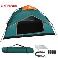 Outdoor 3-4 Person Man Camping Sport Tent Instant Pop Up Double Layer Family