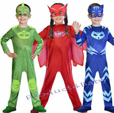 Boys Girl Kids Superhero PJ Masks Costume Cape Mask Owlette Catboy Cosplay Party