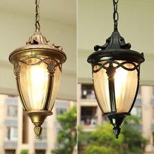 Outdoor Pendant Lights Garden Lamp Glass Ceiling Light Black Chandelier Lighting