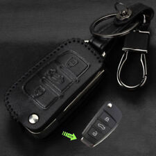 Leather Car Remote Key Fob Case Cover fits Audi A1 A3 Q3 Q7 R8 A6L TT Flip Key