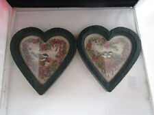 Home Interiors Heart Shape Bird Pictures set of 2