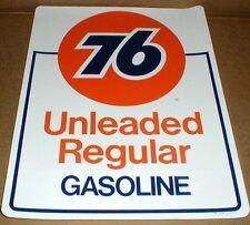 PAIR Unocal Union 76 gas station Gasoline pump vintage decal sticker sz8x10 1990