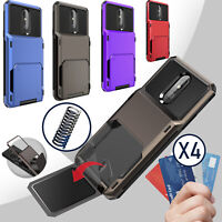 For LG Stylo 6 5 Plus Shockproof Phone Case Cover With Card Wallet Holder Slot