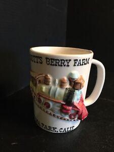 21) KNOTTS BERRY FARM 3-D Train Ceramic Mug Vintage SOUVENIR