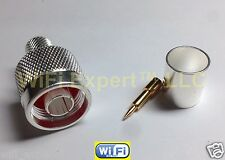 Silver Plated N Male Plug Crimp for RG8 LMR400 RG213 RF Cable Connector US