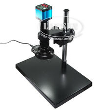 14MP HDMI HD PCB Microscope Set USB Industry Camera 180X C-Lens Stand Ring Lamp