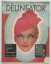 Delineator Fashion Art Deco Magazine September 1933 Rhys Painting Lady Cover Art