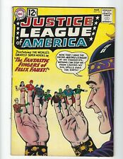 JUSTICE LEAGUE OF AMERICA #10 - NICE VF- 7.5(Q) - 1ST FELIX FAUST - $150 B.I.N.