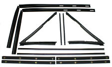 New 12-Pc Front Door Glass Master Weatherstrip Seal Set / For Jeep Sj Fsj Models