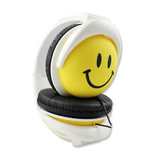 Foldable Cute Smile Girls Boys Childrens Kids Over the Head Headphones MP3 iPad