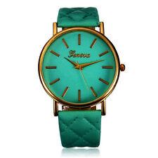 Fashion Women Casual Geneva Roman Leather Band Analog Quartz Wrist Watch