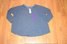 NWT Womens TOMMY HILFIGER Sport Navy Lounge Sweatshirt Size XXL 2XL $59