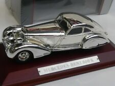 1/43 Atlas Mercedes - Benz 500 K chrome mit Holzsockel 7687105