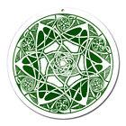 Fenster Glas Bild Nr. 47. Mandala 1. grün Ø10cm Licht Fänger keltisches Symbol