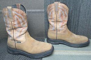 Mens ARIAT Workhog XT Waterproof Soft Toe Leather Work Boots 10.5 D