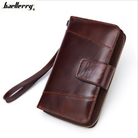 Women Genuine Leather Long Clutch Bifold Wallet Credit Card ID Holder Purse New