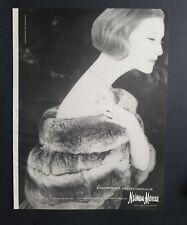 1956 Neiman Marcus women's Empress chinchilla fur coat vintage fashion ad