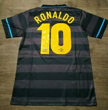 """MAGLIA CALCIO RETRO 10 RONALDO IL FENOMENO INTER HOME FINALE UEFA 98 TAGLIA """"M"""""""