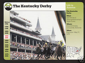 THE 1992 KENTUCKY DERBY Horse Racing Photo History GROLIER STORY OF AMERICA CARD