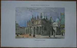 1857 Girardet print ST. MARC'S BASILICA, VENEZIA VENICE, ITALY (#6)