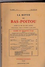 LA REVUE DU BAS POITOU ET DES PROVINCES DE L OUEST   MAI JUIN  1959  N° 70 - 3