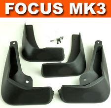 Apto para FORD FOCUS (MK3) Sedan 2011-On Moldeado Aleta De Barro Guardias de bienvenida mudflaps