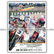 PUB SUPERMOTARD à THIONVILLE - Ad / Publicité COURSE MOTO 1992