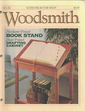 Woodsmith 1992 No 82 Heirloom Project Book Stand, Drafting Cabinet & More