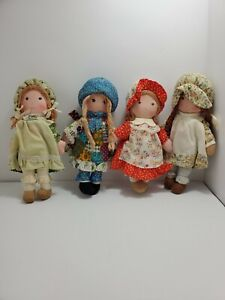 Vintage Holly Hobbie Dolls Lot Of 4 Holly-Carrie-Heather-Amy