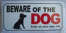 LARGE PLASTIC BEWARE OF THE DOG PET WARNING SIGN SAFETY DOOR GATE PLUS 4 SCREWS