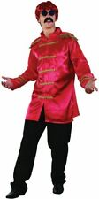 SGT PEPPER JACKET, RED, ADULT COSTUMES, 1960s BEETLES FAB 4 FANCY DRESS