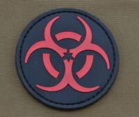 "PVC / Rubber Patch ""Biological Hazards"" with VELCRO® brand hook"
