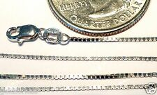 10kt Pure Solid White Gold 20 inch .8MM BOX CHAIN Lobster Lock..100% Guaranteed!