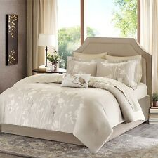 New Luxurious Madison Park 9-piece King Size Comforter Bed in a Bag Sheet Set