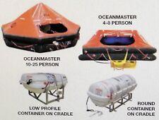 Revere Survival Inc. Ocean Master Round Container LifeRaft Life Raft Cradle