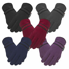 Ladies Warm Winter Fleece Gloves THERMAL INSULATION Liner High performance