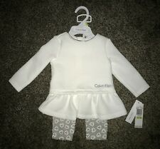 NWT CALVIN KLEIN newborn / infant baby girl 2-piece outfit size: 3/6 months, $50