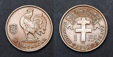 "1 Franc Madagascar ""France Libre"" 1943 SA. Cote: 60€  EN FDC"